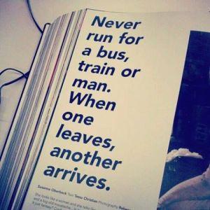 never run for a train