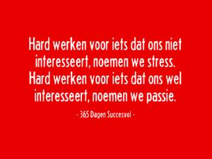 Stress passie